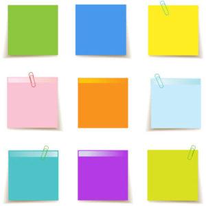 Игры с разноцветными стикерами